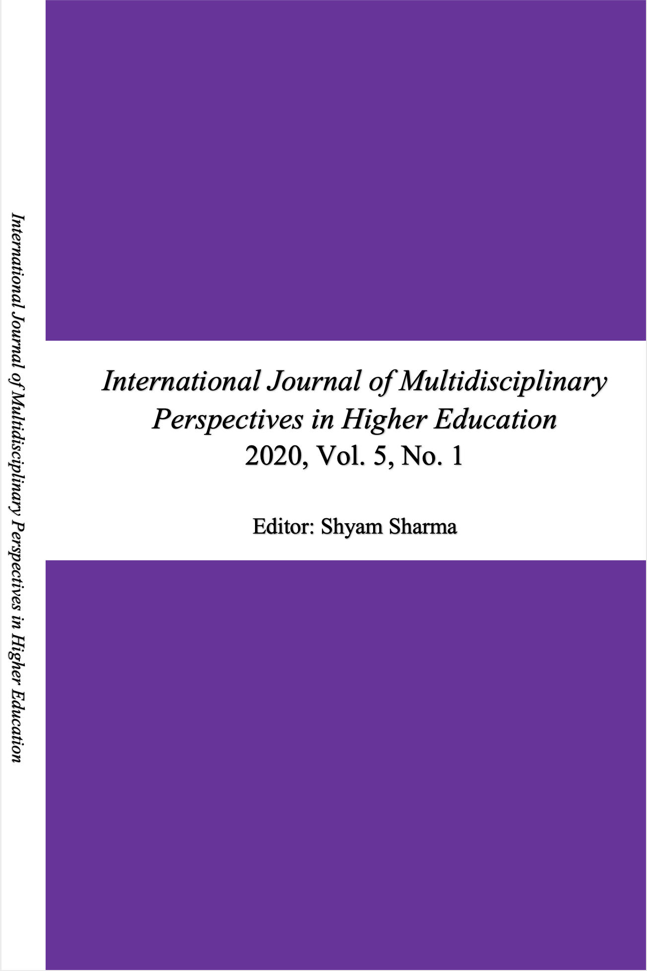 View Vol. 5 No. 1 (2020): International Journal of Multidisciplinary Perspectives in Higher Education