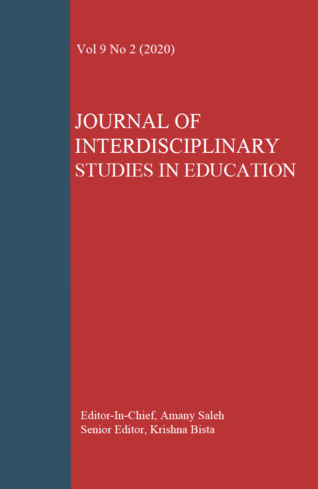 View Vol. 9 No. 2 (2020): Journal of Interdisciplinary Studies in Education